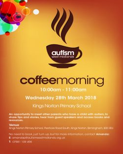 Autism West Midlands – Coffee Morning